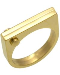 Opes Robur - Gold D Ring - Lyst