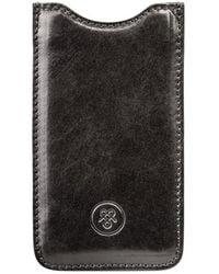 Maxwell Scott Bags - Luxury Italian Black Leather Iphone 7/7s Case Sibilla - Lyst
