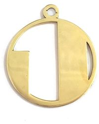Alice Eden - Gold Deco Initial J Pendant Necklace - Lyst