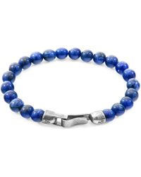 Anchor & Crew - Silver & Blue Sodalite Stone Outrigger Bracelet - Lyst