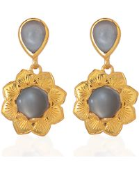 Emma Chapman Jewels - Isa Black Moonstone Earrings - Lyst