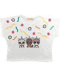 Supersweet x Moumi - Party Cats Girl Tee - Lyst