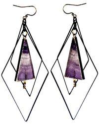 Tiana Jewel - Tempest Flourite Earrings Muret Collection - Lyst