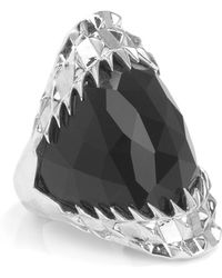 Kasun - Black Vampire Bite Ring Silver - Lyst