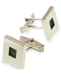 Jan D - Square Oxidized Cufflinks - Lyst