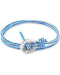 Anchor & Crew - Blue Dash Lerwick Silver & Rope Bracelet - Lyst