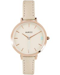 Auree - Montamartre Rose Gold Watch With Almond And Pale Blue Strap - Lyst