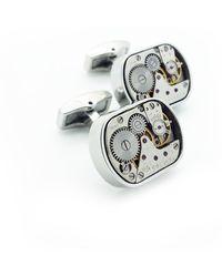 LC COLLECTION - Vintage Watch Movement Cufflinks Plated Rhodium - Lyst