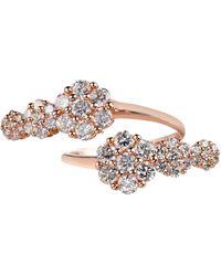 Sonal Bhaskaran - Azira Pink Gold Double Cluster Ring - Lyst