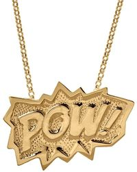 Edge Only Pow Pendant Xl Long In Gold