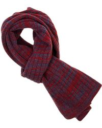 40 Colori - Red Melange Wool & Cashmere Scarf - Lyst