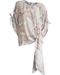 CONSTANTINE/RENAKOSSY - Printed Kimono Blouse In Beige - Lyst