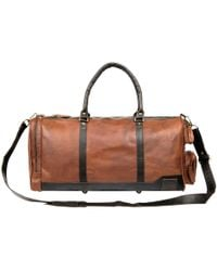 MAHI - Leather Columbus Holdall In Vintage Brown With Mahogany Details - Lyst