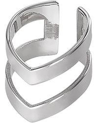 Dutch Basics - Silver Double Point Ear Cuff - Lyst