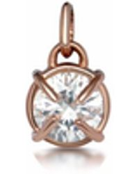 One and One Studio - Sterling Silver & Rose Gold Flower Pendant Set - Lyst
