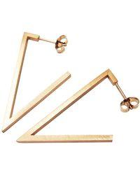 Stephanie Bates - Rose Gold Triangle Earrings - Lyst