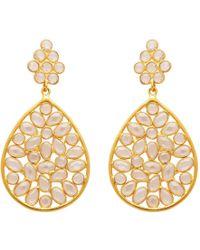 Carousel Jewels - Sliced Crystal Teardrop Earrings - Lyst