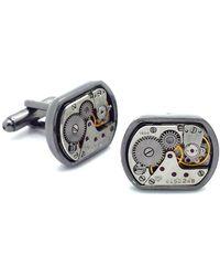 LC COLLECTION - Gun Black Anthracite Vintage Timepiece Cuff Links - Lyst