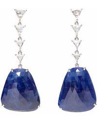 Ri Noor - Sapphire Slice Diamond Earrings - Lyst