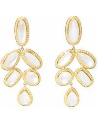 Ri Noor - Diamond Moonstone Earrings - Lyst