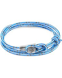 Anchor & Crew - Blue Dash Dundee Silver & Rope Bracelet - Lyst