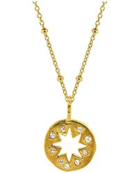 Yvonne Henderson Jewellery - Cutout Star Necklace With White Sapphires - Lyst