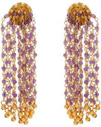 Carousel Jewels - Amethyst Waterfall Earrings - Lyst