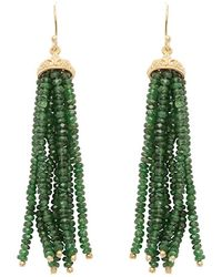 Carousel Jewels - Gold & Chrysoprase Waterfall Earrings - Lyst