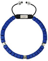 Clariste Jewelry - Men's Ceramic Bead Bracelet Blue & Silver - Lyst