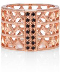 Alexandra Alberta - Guggenheim Black Diamond Ring - Lyst