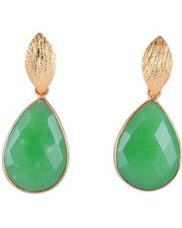 Magpie Rose - Green Pear Drop Earrings - Lyst