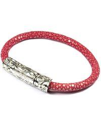 Clariste Jewelry - Women's Pink Stingray Bracelet With Silver Lock - Lyst