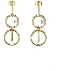 Opes Robur - Gold Figure Of Eight Earrings - Lyst