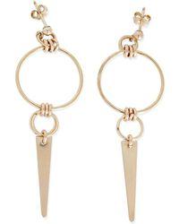 Alison Fern Jewellery - Hanley Gold Circle Stud & Spike Earrings - Lyst