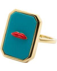 Eshvi - Turquoise Lip Ring - Lyst