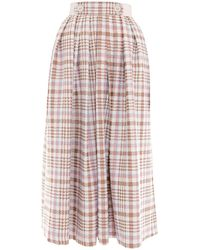 Victor Xenia London - Olia Skirt Cream & Peach - Lyst