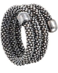 Durrah Jewelry - Graphite Spring Ring - Lyst