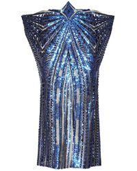 Jiri Kalfar - Gold & Blue Sequin Skirt - Lyst