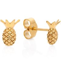 Lee Renee - Pineapple Stud Earrings - Lyst