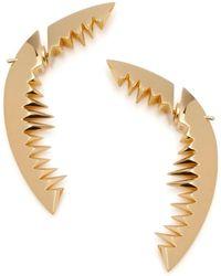 Kasun - Shark Bay Earrings Gold - Lyst