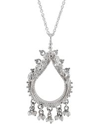 Annabelle Lucilla Jewellery | Sikhara Charm Pearl Pendant Silver | Lyst