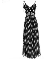 LEFON New York - Lefon's Polka Dot Black & White Dress - Lyst