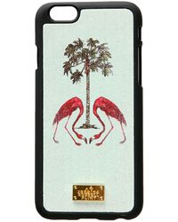 Jessica Russell Flint - Leather Coated Iphone 6 Case Flamingos Under The Palm Tree - Lyst