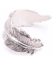 Leivan Kash - Feather Open Ring Silver - Lyst