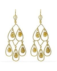 Vintouch Italy - Palermo Citrine Gold Earrings - Lyst