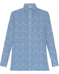 My Pair Of Jeans - Jane Blue Printed Shirt - Lyst