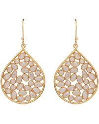 Carousel Jewels - Sliced Crystal Teardrops Earrings - Lyst