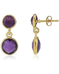 Auree Jewellery | Isla Amethyst & 22ct Gold Vermeil Earrings | Lyst