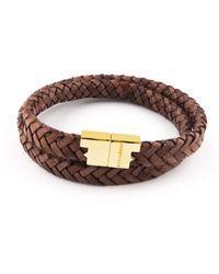 Tissuville - Stark Bracelet Tobacco Brown Silver - Lyst