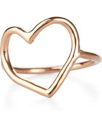 Chupi - My Heart Is Open Ring Solid Gold - Lyst